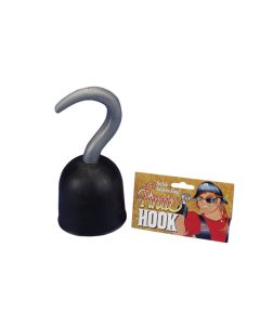 Star Power Plastic Pirate Captain Hook Costume Prop, Black, One Size