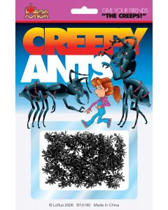 Joker Creepy Mini Ants Prank Decoration Pack, Black, 70-80 CT