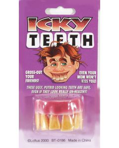 Loftus Icky Hillybilly Buck False Teeth, Yellow Pink, One Size