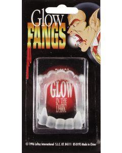 Loftus Glow in the Dark Plastic Vampire Fangs, White, One Size