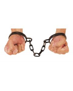 Loftus Realistic Looking Pirate Wrist Shackles, Black, One Size