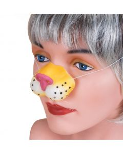 Star Power Animal Costume Accessory Tiger Nose, Yellow White Pink, One-Size