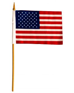 "Loftus Patriotic Stars and Stripes 6"" Flag, Red White Blue, 6 CT"