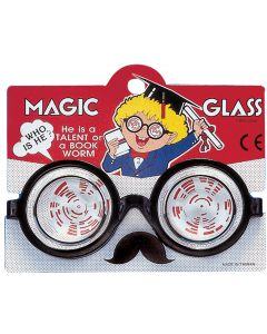 Star Power Nerd Geek Round Magic Glass Glasses, Black, One Size