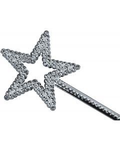 Star Power Shiny Fairytale Princess Star Shape Wand, Silver, One Size