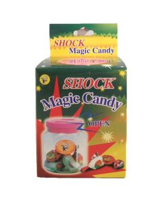 "Joker Tasty Magic Candy Plastic Jar 3.5"" Shocking Prank, Assorted Colors"