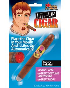 Loftus Realistic Rich Guy Light-Up Cigar Costume Accessory, Brown, One Size