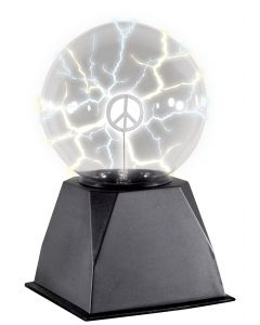 "Loftus Glowing Plasma Lamp with Inserts 5"" Light Fixture, Black"