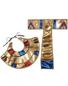 Loftus Egyptian Collar & Belt 2pc Accessory Kit, Gold Blue Red, One Size