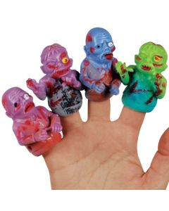 Loftus Walking Undead Zombie Halloween Finger Puppets, Assorted Colors, 48 CT