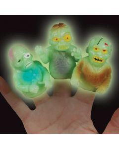 Loftus Walking Undead Zombie Halloween Finger Puppets, Glow-in-the-Dark, 48 CT
