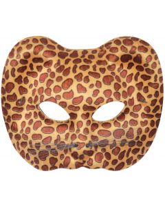 Loftus Leopard Halloween Costume Face Mask, Brown Tan, One Size