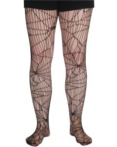 Loftus Halloween Hosiery Spider Web Woven Vampire Pantyhose, Black, One Size