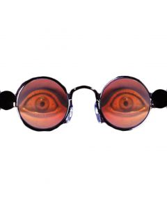Loftus Halloween Spooky Eyes Holographic Costume Glasses, Silver, One Size