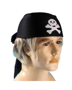 Loftus Pirate Skull and Crossbones Head Scarf, Black, One Size