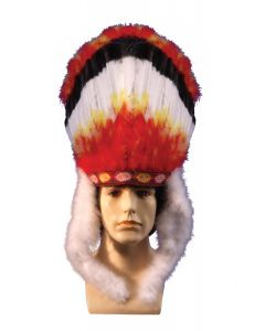 Star Power Colorful Indian Native American Headdress, One Size