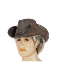 Loftus Crocodile Expert Suede Leatherette Cowboy Hat, Brown, One Size