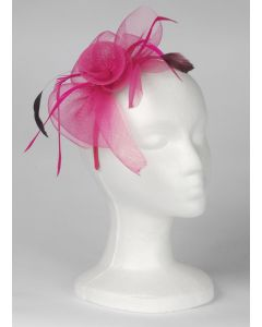 Loftus Fancy Flower & Feather Mesh Adult Headband, Pink, One Size