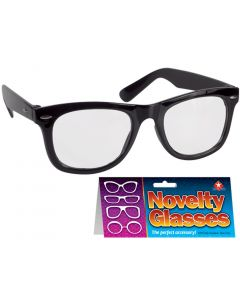 Star Power Reporter Black Frame Costume Glasses, Black, One Size