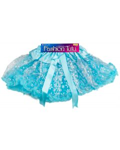 Star Power Women Princess Snowflake Tutu Skirt, Light Blue Silver, One-Size