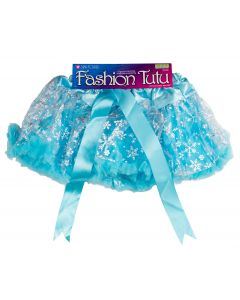 Loftus Girls Snowflake Princess  Tutu Skirt, Light Blue Silver, One-Size