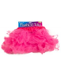 Star Power Women Party Costume Tulle Petticoat Tutu Skirt, Hot Pink, One-Size