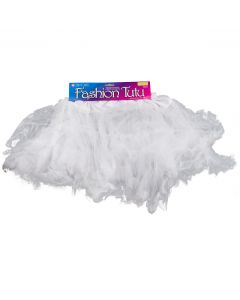 Star Power Princess Women Costume Petticoat Tutu Skirt, White, One-Size