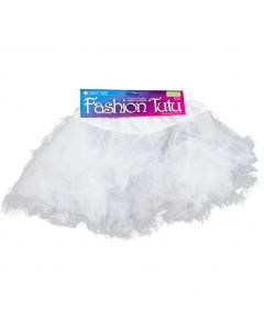Star Power Princess Girls Costume Petticoat Tutu Skirt, White, One-Size