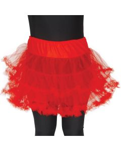 Star Power Adult Costume Tutu Petticoat Slip Costume Skirt, Red, One Size