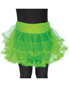 Star Power Adult Costume Tutu Petticoat Slip Costume Skirt, Lime Green, One Size