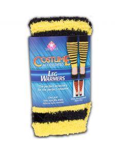 "Women Bumblebee Costume Leg Warmers, Yellow Black, One-Size 14"", 6 Pairs"