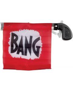 """Star Power Starter Prank Bang Gun Flag Pistol, Black Red, 5"""""""