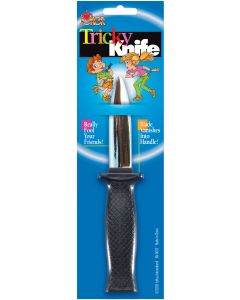 Joker Tricky Spring Fake Costume Accessory Knife, Silver Black, 7.25""