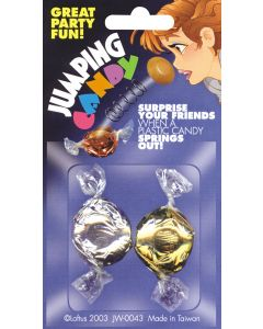"""Funny Flinging Spring Jumping Plastic Candy 2"""" Prank, Assorted Colors, 2 Pack"""