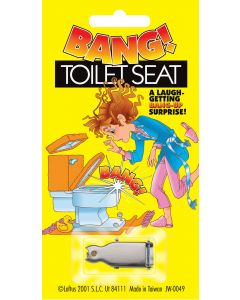 """Joker Bang! Toilet Seat 1.25"""" Prank, Silver"""