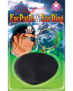 Star Power Child Pirate Eyepatch Earring Accessory Kit, Black Gold, One Size