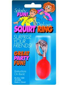 Joker Deluxe Splashy Ring Gag Prank 1in Squirting Joke, Gold Red