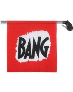 """Loftus Starter Prank Bang Gun Flag Pistol, Red Black White, Large 8"""""""