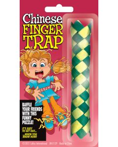 "Loftus Classic Paper Chinese Finger Trap 4.75"" Prank, Assorted Colors"