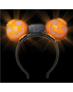 Supreme Halloween Pumpkin Light Up Boppers One-Size LED Headband, Orange