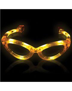 Supreme Light Up Blinking Sunglasses LED Glasses, Yellow, One Size