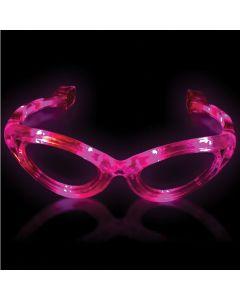 Supreme Light Up Blinking Sunglasses LED Glasses, Pink, One Size