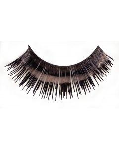 Loftus Showgirl Flashy Tinsel Costume 2pc Eyelashes, Black, One Size
