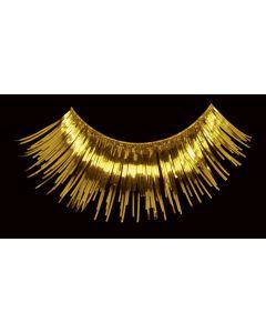 Loftus Flashy Showgirl Tinsel Costume 2pc Eyelashes, Gold, One Size