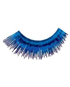 Loftus Showgirl Flashy Tinsel Costume 2pc Eyelashes, Blue, One Size