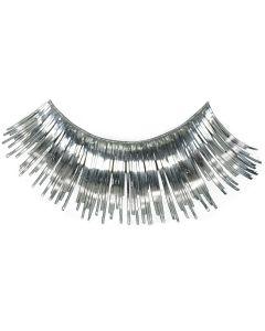 Loftus Showgirl Flashy Tinsel Costume 2pc Eyelashes, Silver, One Size