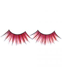 Loftus Showgirl Flashy Extra Long 2pc Eyelashes, Red Purple Black, One Size
