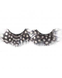 Loftus Polka Dot Costume Feather 2pc Eyelashes, Black White, One Size