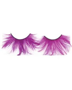 Showgirl Flapper Halloween Costume Feather Eyelashes, Purple, One Size, 6 Pairs