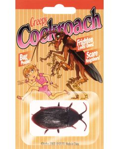 Creepy Realistic Plastic Cockroach Decoration Prop, Black, 6 Pack